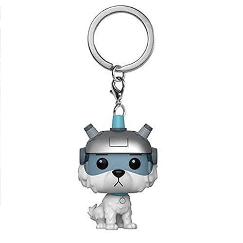 Rick en Morty, augurk Morty en trouwe hond sneeuwbal model pop sleutelhanger hanger, super schattige hanger, een must-have voor anime liefhebbers