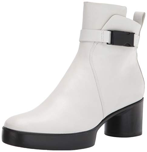 ECCO Women's Women's Shape Sculpted Motion 35 Buckle Boot Fashion, BRIGHT WHITE, 8-8.5