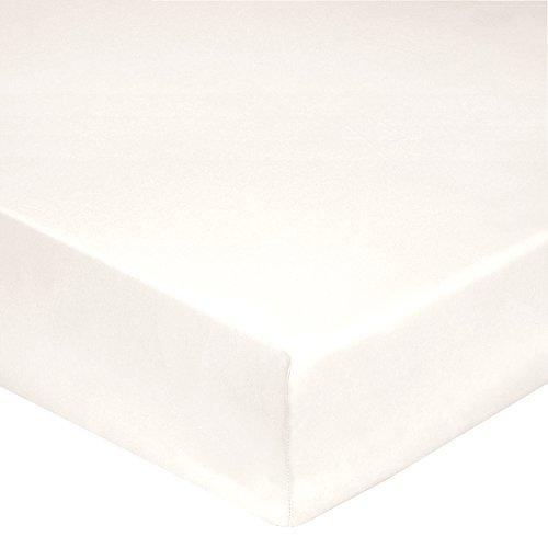 Blanc des Vosges Uni 57 fils Drap housse Coton Coquille 180 x 200 cm bonnet de 27 cm