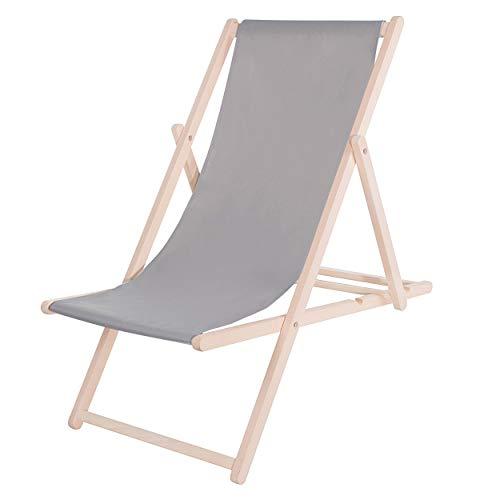 SPRINGOS Liegestuhl, DIY, Holz, Ausmaß: 58 x 92 x 62 cm, Sonnenliege, Klappbar, Relaxsessel, Gartenliege, Gartenmöbel,