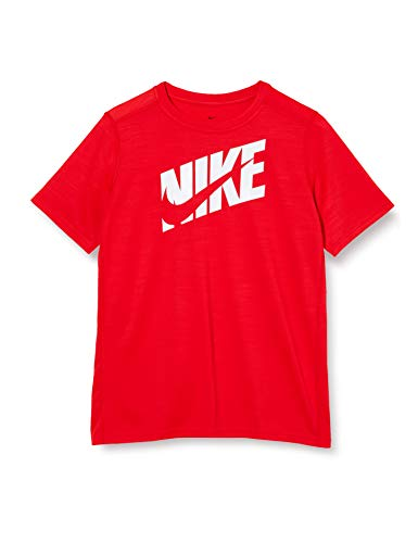 Nike Jungen B NK HBR+ PERF TOP SS T-Shirt, University red/(White), XL
