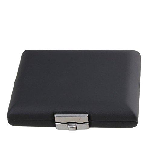 Caja Organizador para Almacenaje de Caña de Fagot Bassoon Oboe - PU Cuero, Negro - 92x78x22 mm (almacenar 3 cañas)