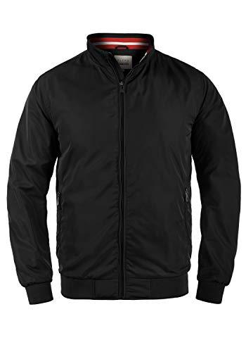 Blend Zyklo Herren Softshell Jacke Funktionsjacke Übergangsjacke mit Stehkragen, Größe:L, Farbe:Black (70155)