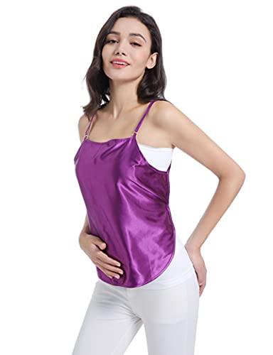 SHXN Vestido Premamá de Protección Radiológica Material De Fibra De Plata,Chaleco De Protección contra La Radiación,íNdice De Protección Electromagnética De 99,9999%,Púrpura,Triple Layer