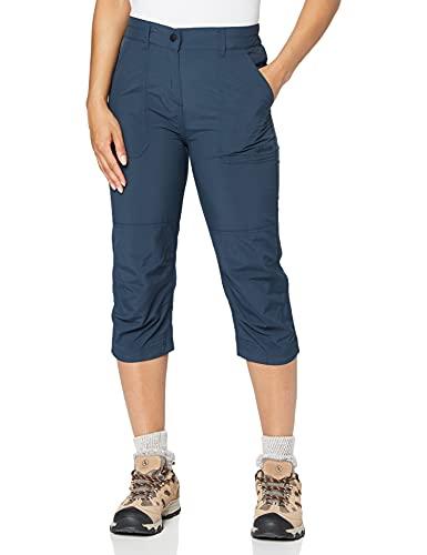 Gregtster 4250772329281 Pantalon 3/4 de randonnées/activités Femme, Navy, FR (Taille Fabricant : XL)