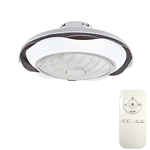 Ventiladores para el Techo con Lámpara Ventilador de perfil bajo de montaje semi, control remoto LED, ventilador de techo de perfil bajo con luz, velocidad de viento ajustable y brillo ajustable, para