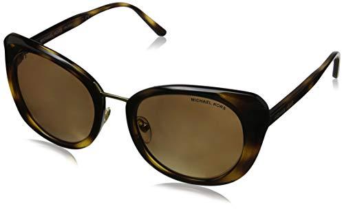 Michael Kors Damen Lisbon 32852T 52 Sonnenbrille, Braun (Dark Tortoise/Goldmirrorpolarized)