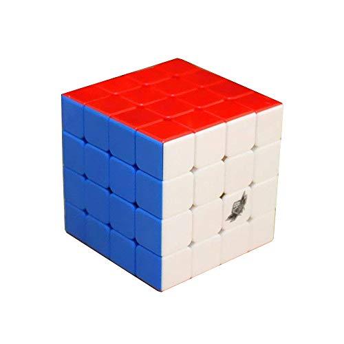 FunnyGoo Cyclone Boys Stickerless 4x4x4 JiSu G4 Topspeed G4 Magic Cube Puzzle Cubo de Velocidad para Principiantes y Jugadores Profesionales, con una Base de pie