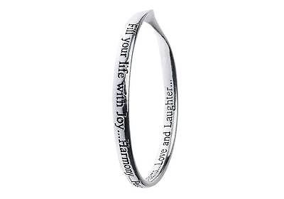 Silver Plated Message Bangle - Fill your life with joy...Harmony...Peace...Dreams...Love and Laughter....