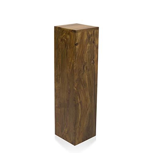 SEDEX Pillar Dekosäule 20/20/75 cm Blumensäule Holzsäule Podest Deko Palisander Massivholz