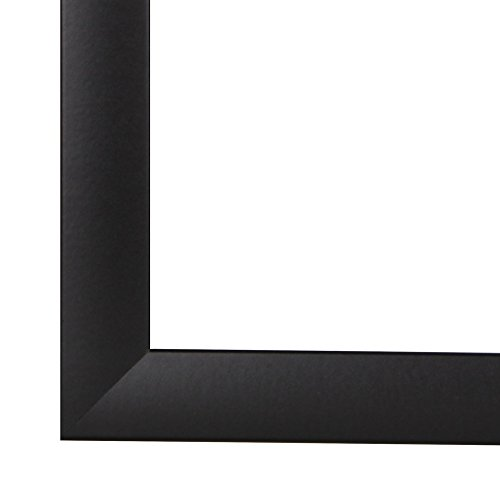 FramoLUXUS 90 cm x 120 cm MDF Holz Bilderrahmen in Farbe Schwarz matt