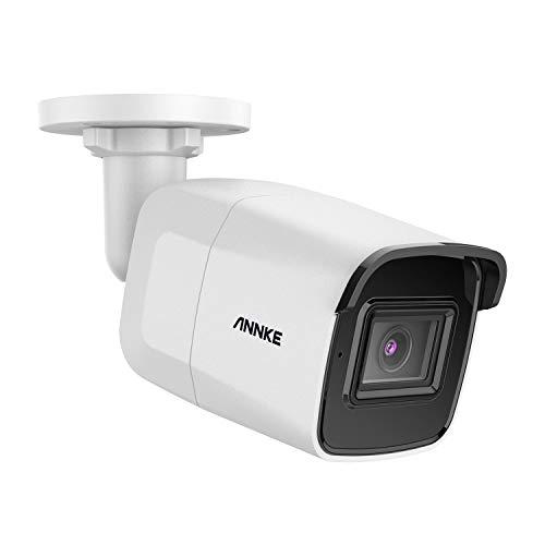 ANNKE C800 Bullet 4K Ultra HD POE Cámara de Seguridad ONVIF Cámara IP 8MP Vigilancia Audio 256GB Tarjeta TF Acceso Remoto 100 pies EXIR Visión Nocturna IP67 Impermeable (NVR solo admite H.265/H.265+)