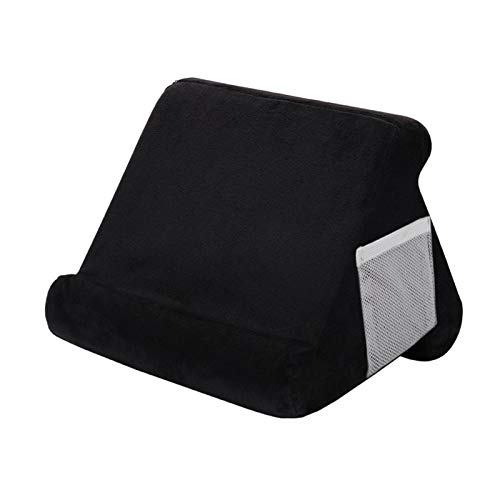 Elibeauty Multi-Angle Cushion for Tablets,Book Couch iPad Tablet Holder,Foldable Tablet Stand Pillow Holder Stand for Car, Sofa, Lap, Floor, Couch(Black)