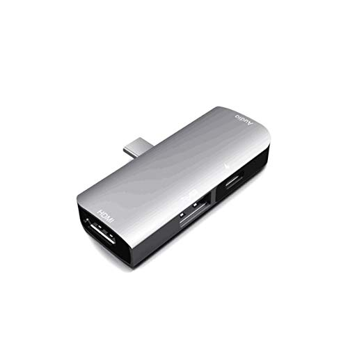Download information TYPE-C Hub 4 In 1USB C To 4K HDMI 3.5mm Jack AUX USB 3.0 Hub Adapter Type C Distributor In the case of computer