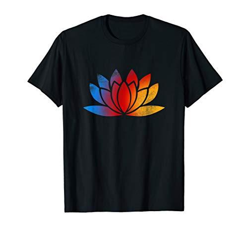 Love Yoga Tee Shirt Lotus Flower Mediation Pose Buddha