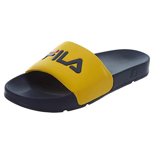 Fila Men's Drifter Sandals 11 Lemon Chrome/Fila Navy/Fila Red