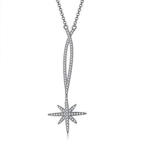 QIYUN.Z 2020 Moda Zircon Meteor Collar Ajustable Elegante Suéter Cadena Larga Estrellas Collares Pendientes Mujeres Joyería Astilla