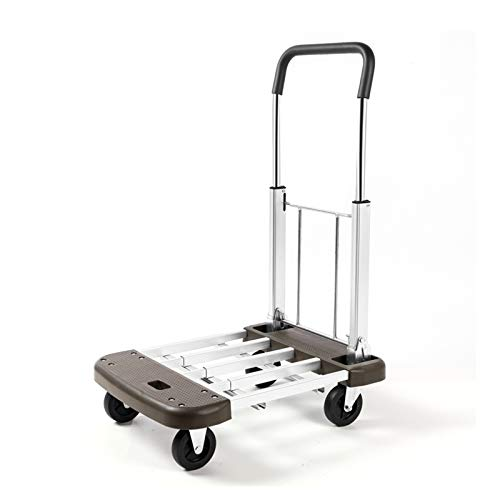 GAONAN Portable Flatbed Truck Folding Trolley, Easy Storage, for Moving/Warehouse/Office, Maximum Load 150kg Trolley