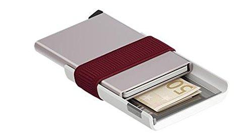 Secrid Cardslide Moneyband Bordeaux Portemonnee S-CS-White-Bordeaux