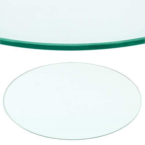 Rapid Teck® Glasplatte Rund Durchm. 700 mm Glastisch Tischplatte aus gehärtetem Glas Tisch Glasscheibe 8mm Dick