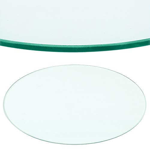Rapid Teck® Glasplatte Rund Durchm. 600 mm Glastisch Tischplatte aus gehärtetem Glas Tisch Glasscheibe 8mm Dick