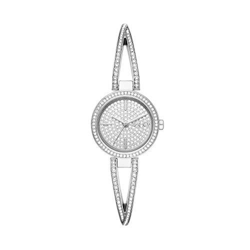 DKNY Women's Crosswalk Quartz Watch with Stainless Steel Strap, Silver, 10 (Model: NY2852)