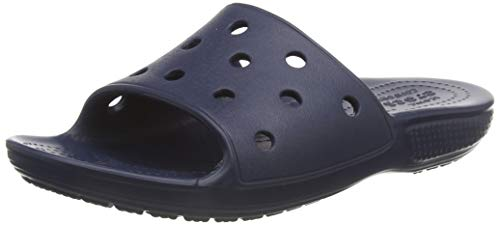Crocs Classic Crocs Slide Kids, Unisex Kids Open Toe Sandals, Blue (Navy 410), J1 UK (32-33 EU)