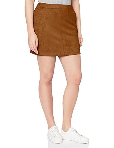 Vero Moda Vmdonnadina Faux Suede Short Skirt Noos Falda, Marrón (Cognac Cognac), Small para Mujer