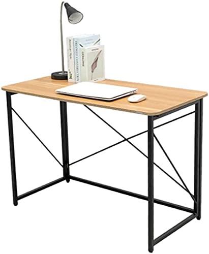 VTAMIN 39.3 Escritorio de computadora Plegable, estación de Trabajo de Mesa de Mesa Alta, Mesa de Estudio Simple Moderna, ensamblaje fácil, para el Escritorio de la Oficina de Oficina para el hogar