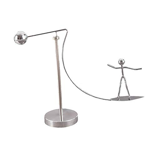 DIGANT Silver Steel Balancing Surfing Man Stress Relief Physics Toy | Gift Showpiece |Home -Office Desktop Décor