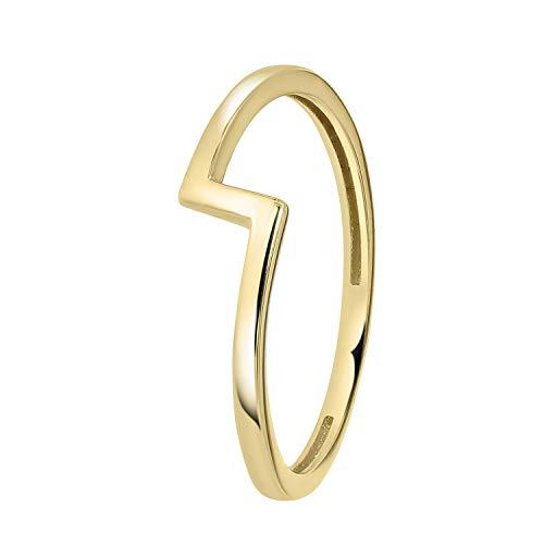 Lucardi - 585 Gelbgold Ring'Blitz' - für Damen - Gelb