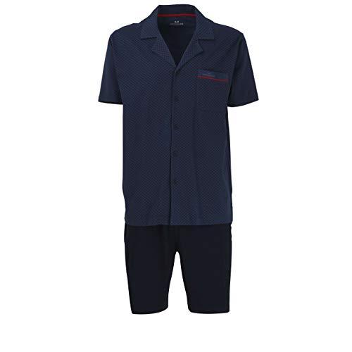 Götzburg Herren Nachtwäsche Zweiteiliger Schlafanzug, Pyjama kurz, aus Baumwolle 56