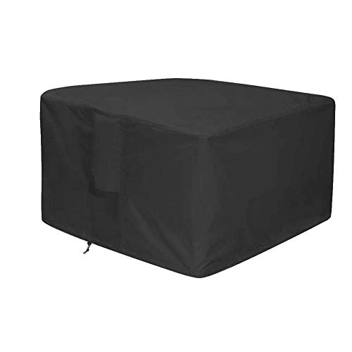 Waterproof Fire Pit Cover Heavy Duty Square Patio Fire Pit Table Cover - 420D Oxford (92 * 92 * 61CM)