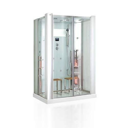 Infrarot Dampfdusche SALTO 2 Personen Dampfdusche Sauna Dusche Infrarot 3,02 kW