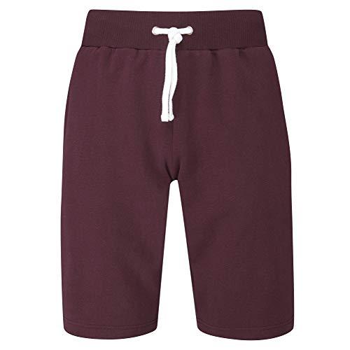Charles Wilson Bolsillo con Cremallera Pantalones Cortos de Jogging para Hombre (M, Dark Port (0520))
