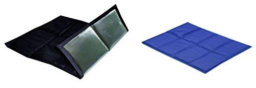 sin4sey 2er Set faltbares Sitzkissen Unterseite isoliert im Zugbeutel (schwarz - blau)