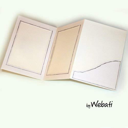 Webafi 5 Stück weiße Verkaufsmappen Leporello Fotohülle Foto - Bildermappe Fotoalbum Portraitmappe Passepartouts Fotomappe