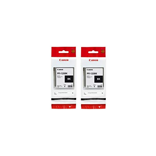Price comparison product image Canon PFI-120 Pigment Ink Tank (2 Pack,  Black) in Retail Packaging