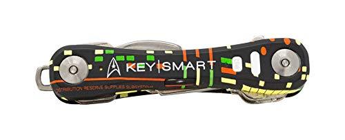 KeySmart Pro - Key Holder w Tile Smart Technology Bluetooth Tracker - w Bottle Opener (up to 14 Keys, Star Trek The Original Series) -  Curv Group, KS411-TRK-USS