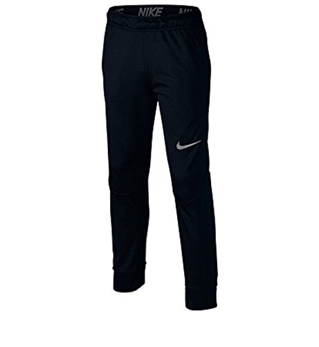 Nike Boys Tapered Training Pants Dry Fit Black in Small