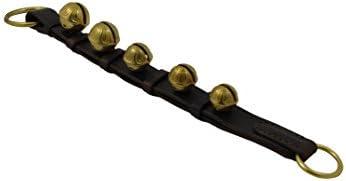 Door Hanging Bells Sleigh Bells Door Hanger Bells on Leather Strap Shopkeepers Bell Over The product image
