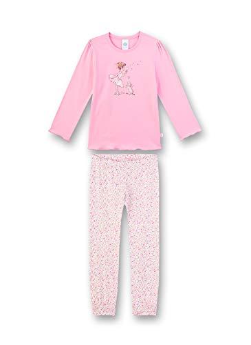 Sanetta Mädchen Pyjama Lang Zweiteiliger Schlafanzug, Rosa (rosa 3813), (Herstellergröße:104)