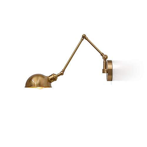 Lámparas de pared de la lámpara de pared de la lámpara de pared de la industria de la industria nórdica se pueden estirar y doblar en Will E27 bombilla Iluminación de la pared Adecuada para el dormito