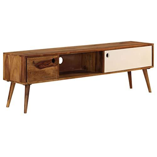Mueble TV de Madera Maciza con doble armario
