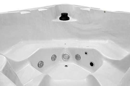 SPA rigide WATERCLIP Luxa carré 5 places (3 places assises + 2 places allongées)