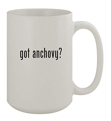 got anchovy? - 15oz Ceramic White Coffee Mug, White