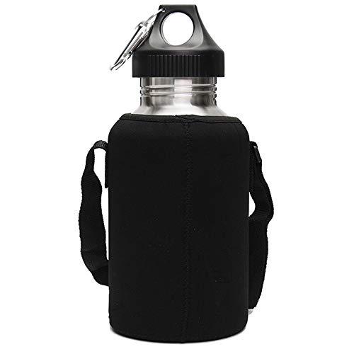 senza BPA adatta allanidride carbonica con 2 chiusure per fitness ARIES ATTACK Borraccia in acciaio inox da 2 l 2,2 l crossfit stabile e a prova di perdite palestra e attivit/à allaperto