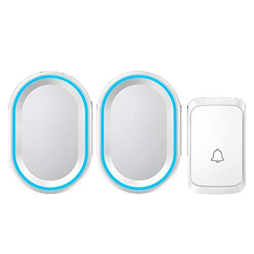Warnung Alarmklingel Wireless Home Office Plug-in Villa Tür im Freien wasserdichten drahtlosen intelligenten Empfänger keiner Batterie erforderlich