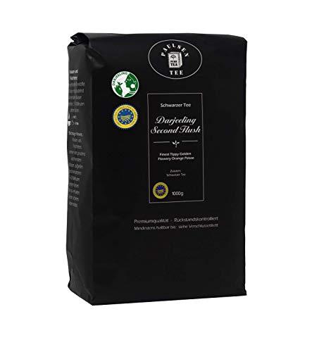 Paulsen Tee Schwarzer Tee Darjeeling Second Flush, 1000g, rückstandskontrolliert & zertifiziert