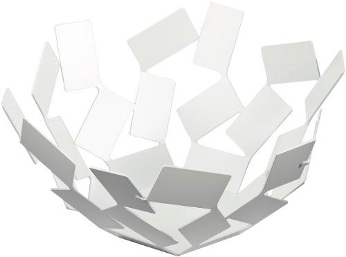 Alessi La Stanza dello Scirocco Fruttiera, Acciaio Inossidabile, Bianco, 27.3x12.7x27.3 cm